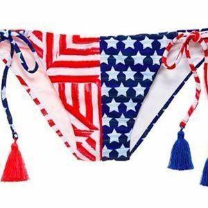 Victoria's Secret Bikini Bottom American Flag